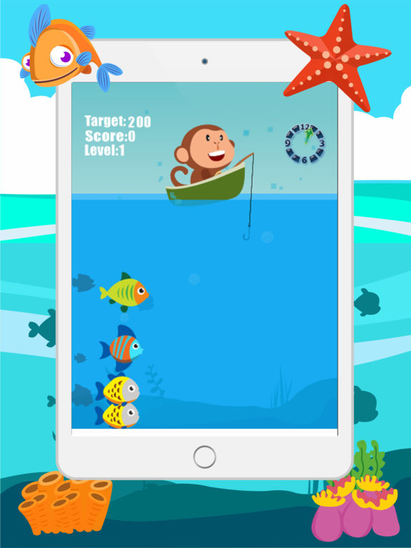 App shopper monkey fishing catch big fish game for kids for Fishing games for kids free