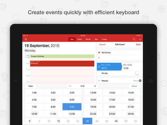 Tiny Calendar - Sync with Google Calendar screenshot