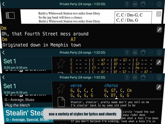 Set List Maker iPad Screenshot 2