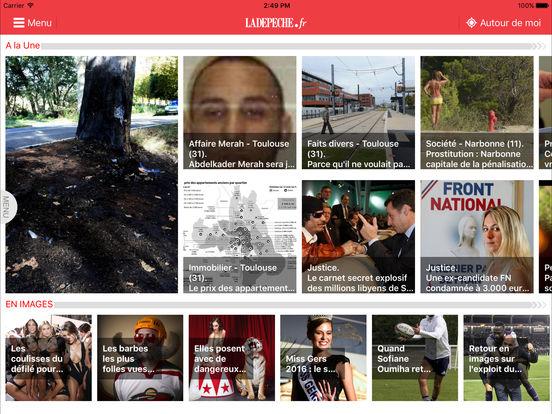 La Dépêche iPad Screenshot 1