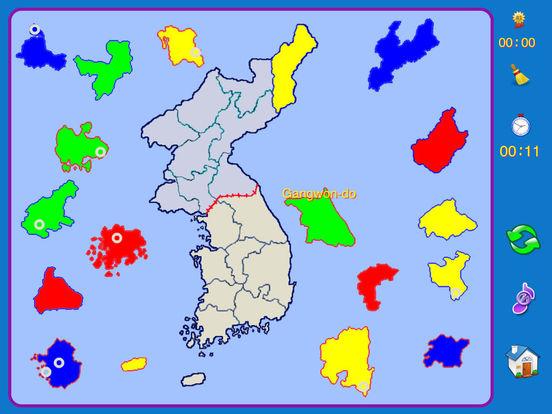 Korean Peninsula puzzle map iPad Screenshot 4