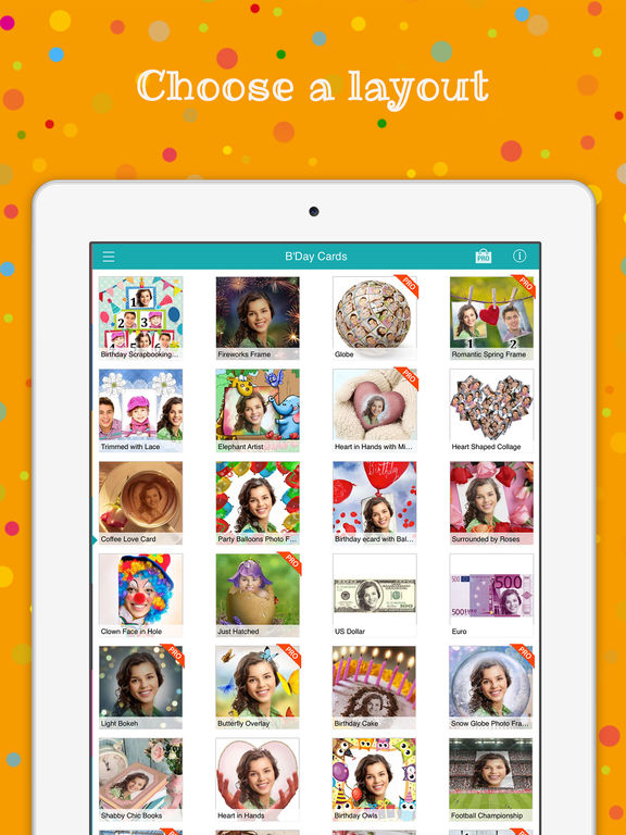 Birthday Cards Free happy birthday photo frame gift cards – Ipad Birthday Card