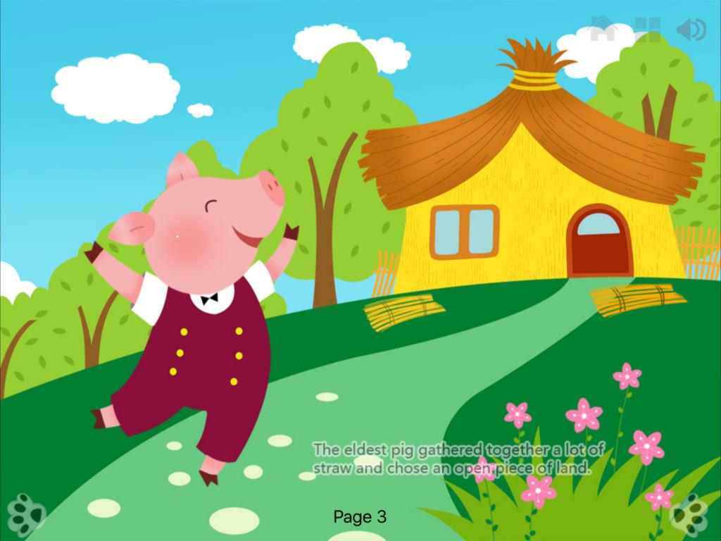 三只小猪 - 睡前动画故事书 ibigtoy