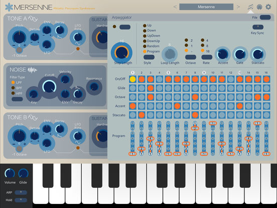 Mersenne Melodic Percussion Synthesizer Screenshots