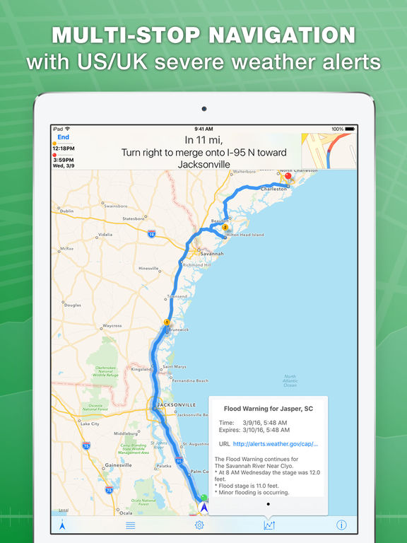 inRoute Route Planner & GPS Navigator screenshot