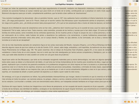 Los Espíritus Vampiros - AudioEbook iPad Screenshot 1