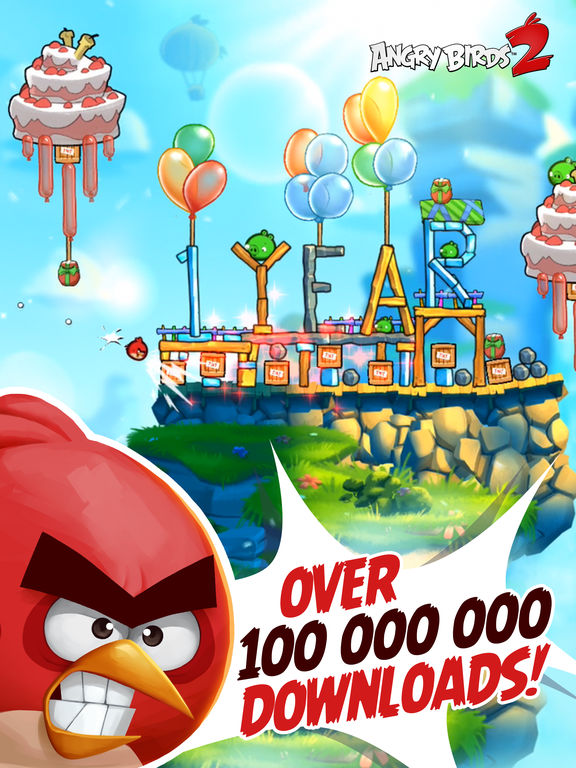 Screenshots of Angry Birds 2 for iPad