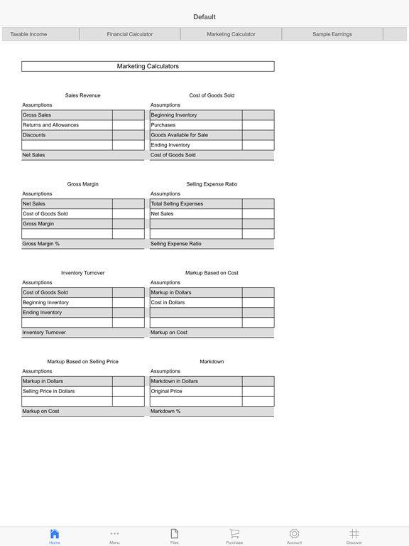 Business Income Screenshots