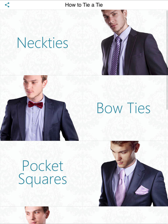 Screenshots for How to Tie a Tie - Best app for Ties and Scarves!