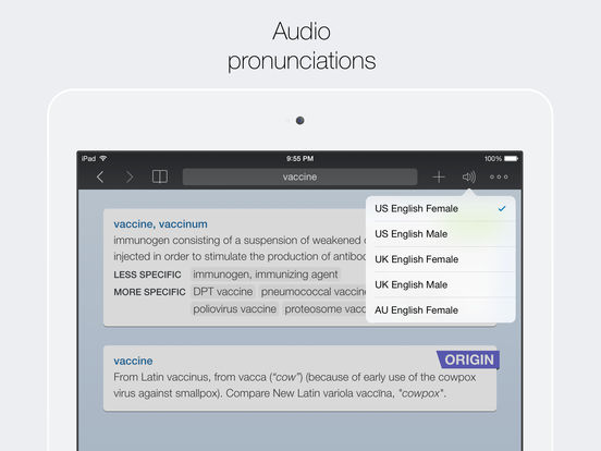 Advanced English Dictionary & Thesaurus Universal screenshot