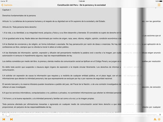 Constitución del Peru iPad Screenshot 2