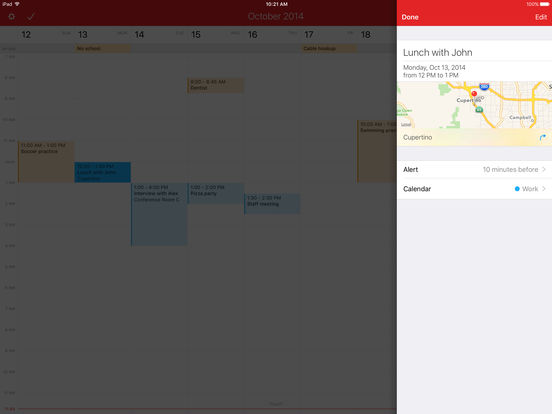 Fantastical 2 for iPad - Calendar and Reminders Screenshots