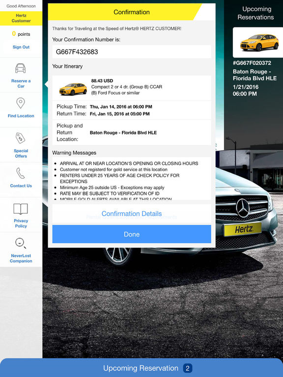 Hertz Rent a Car on the App Store