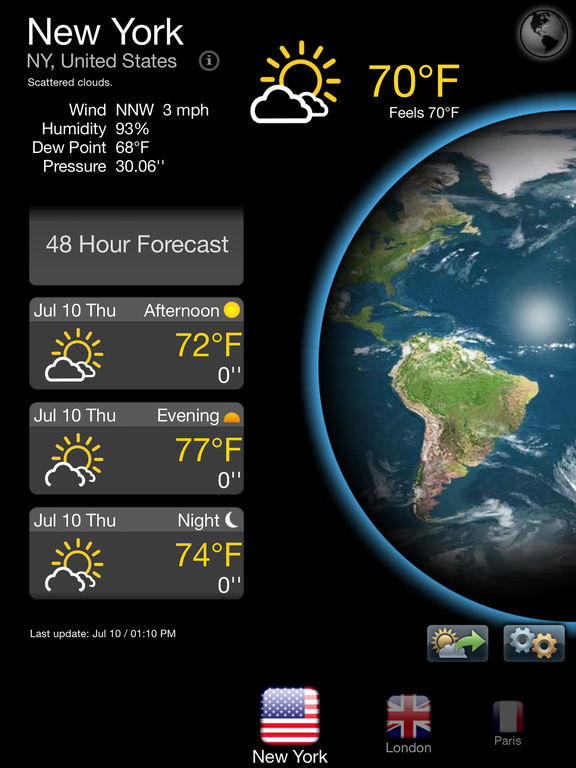 Real Weather Free - Weather & Temperature Forecast Screenshots
