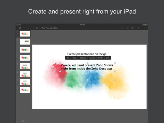 Zoho Docs iPad Screenshot 1