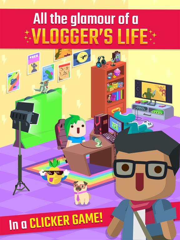 Vlogger Go Viral - Clicker Game & Vlog Simulatorscreeshot 1