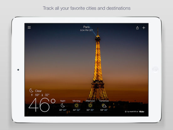 Screenshots of Yahoo Weather for iPad