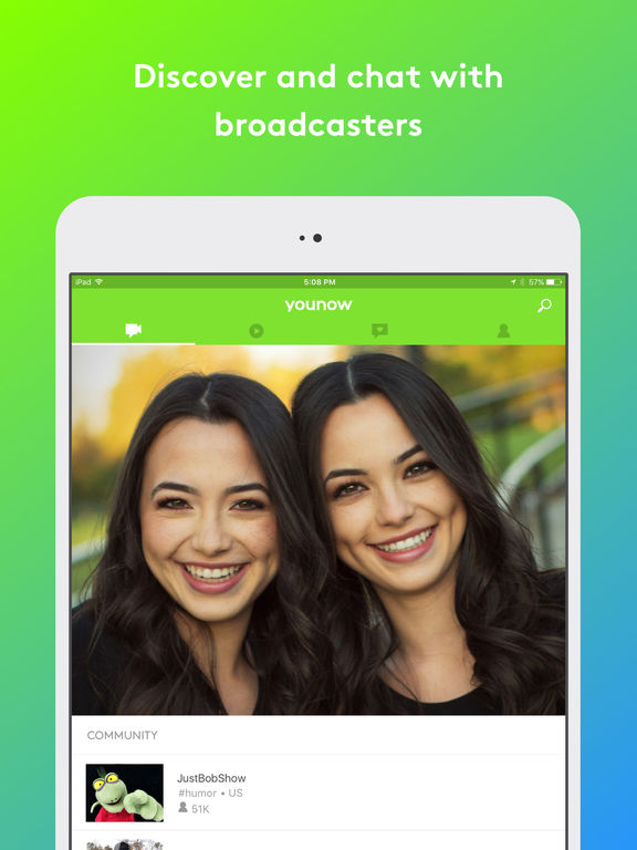 Screenshots of YouNow: Live Stream Video Chat for iPad