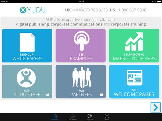 YUDU Media iPad Screenshot 1