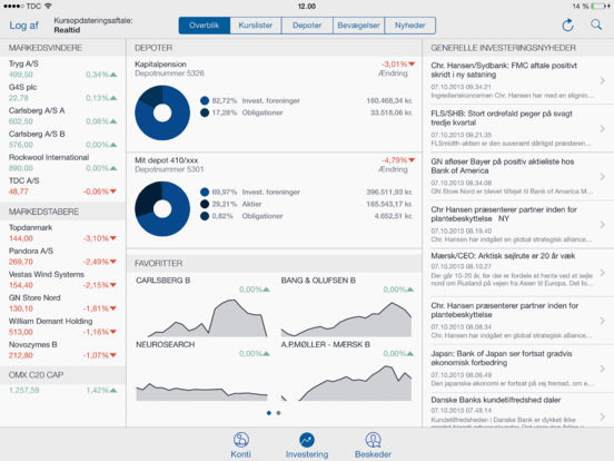 Handelsbanken Mobilbank DK iPad Screenshot 2