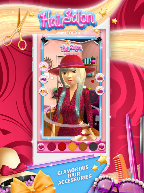 Hair salon games for girls virtual hairstyle s studio and for 3d beauty salon games