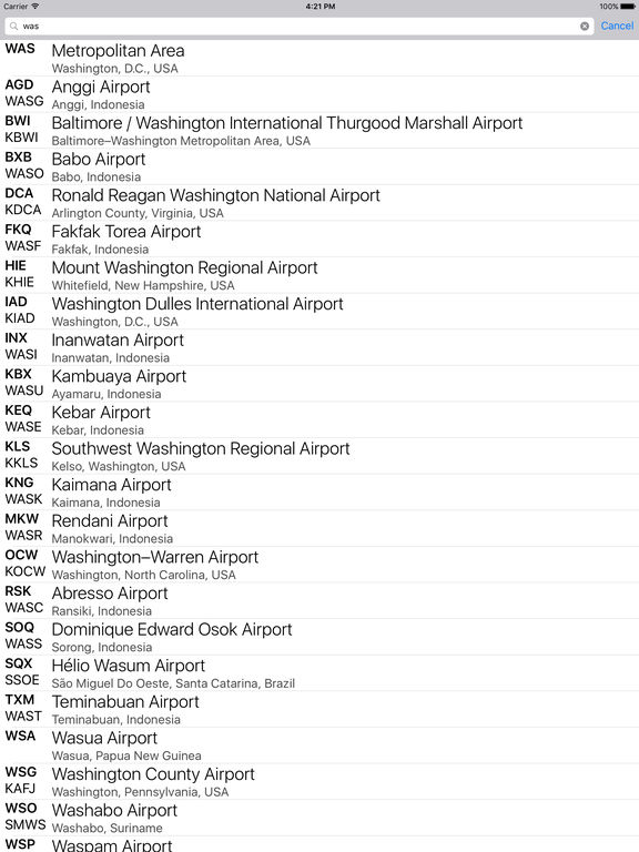 Airport Codes on the App Store