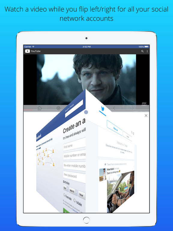 Split Screen Multitasking View for iPhone & iPad Screenshots