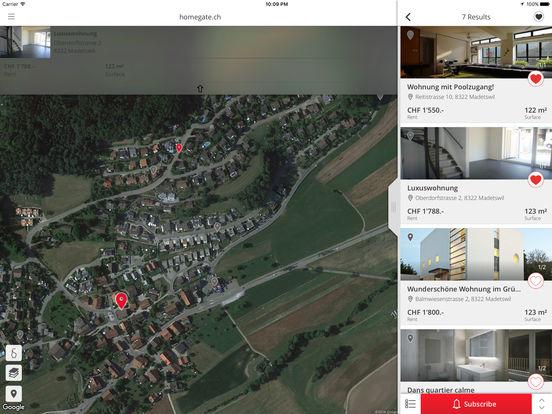 homegate.ch iPad Screenshot 2