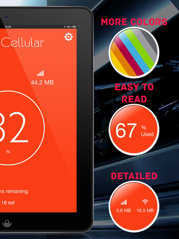 Data Cellular Counter Pro ( monitor data usage ) Screenshots