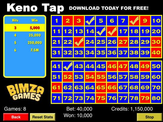 Keno Tap iPad Screenshot 2