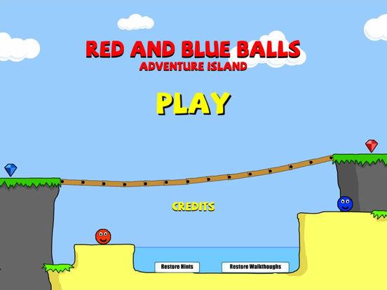 Red And Blue Balls iPad Screenshot 1