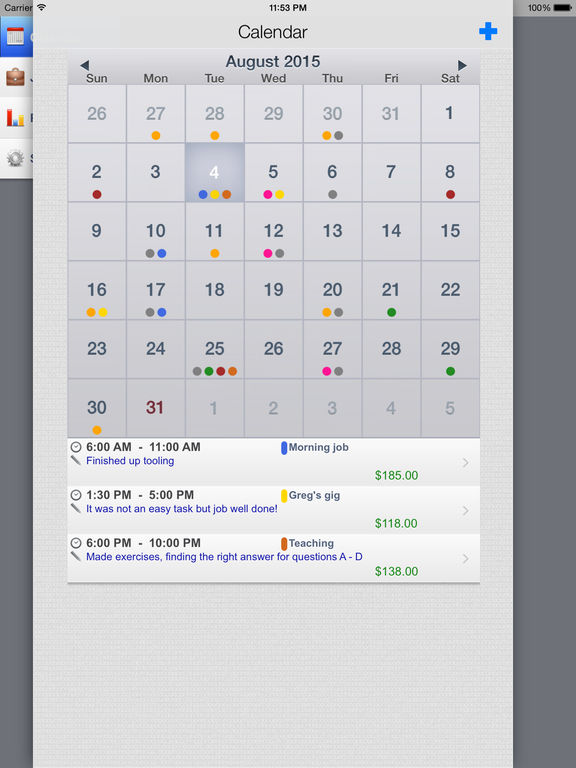 SalaryBook HD - Time tracking & pay schedules Screenshots