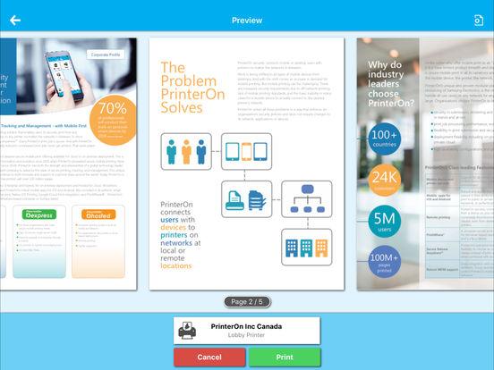 PrinterOn iPad Screenshot 2