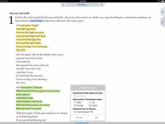 Message Bible iPad Screenshot 1
