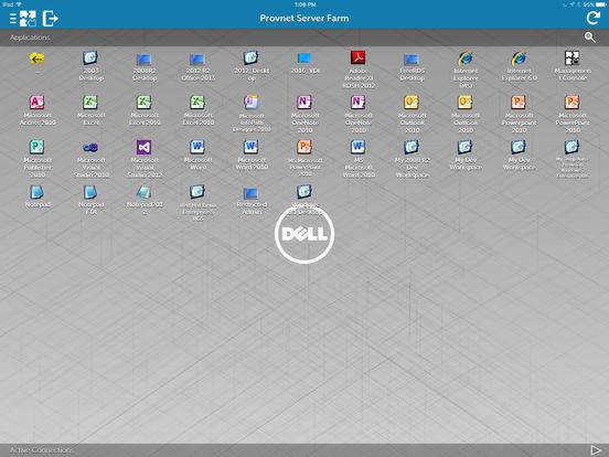 vWorkspace iPad Screenshot 1