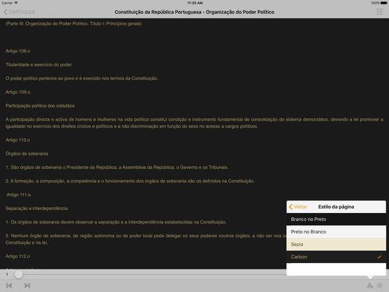 Constituição da República Portuguesa iPad Screenshot 1