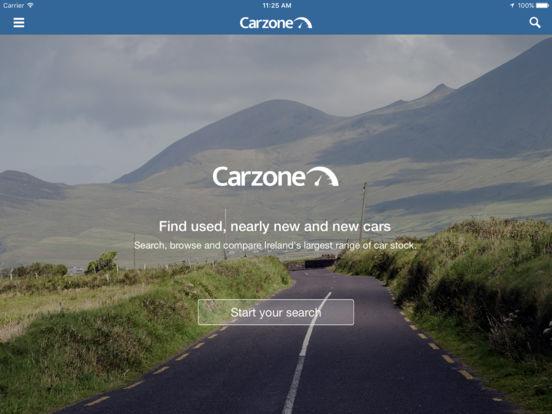 Carzone.ie iPad Screenshot 1