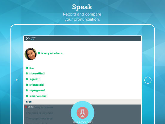 Screenshots of Learn English with ABA English for iPad