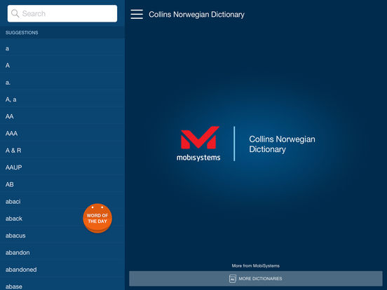 Collins Norwegian Dictionary iPad Screenshot 1