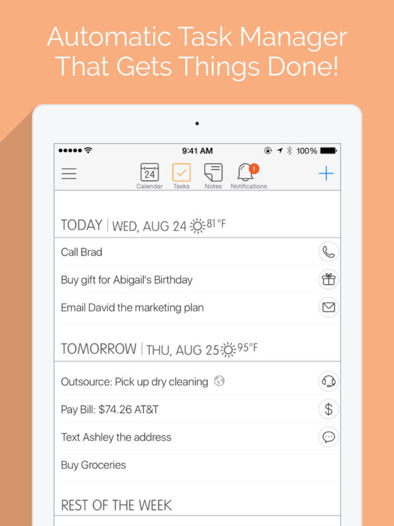 24me Smart Personal Assistant - Automate Your Calendar, To-Do List, Tasks and Notes screenshot