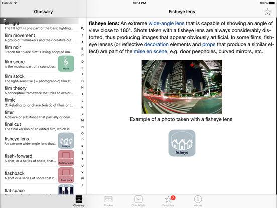 Close-Up Film Language Glossary iPad Screenshot 1