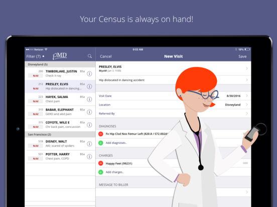 pMDsoft Charge Capture iPad Screenshot 1