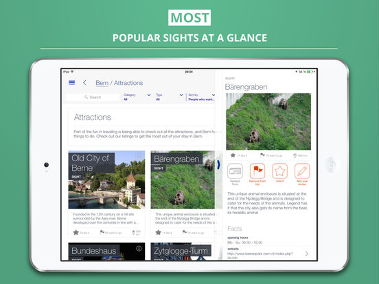 Bern City tripwolf Travel Guide iPad Screenshot 2