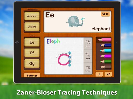 ABC Writing Zoo Animals Game Free Lite HD - for iPad iPad Screenshot 4