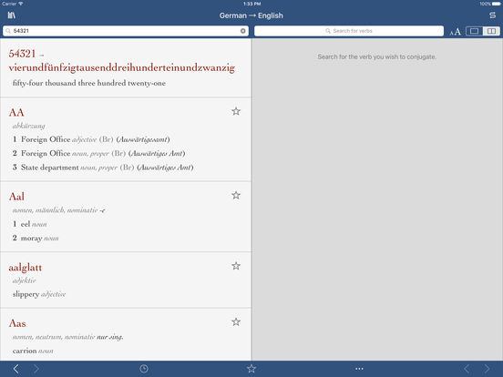 German-English Translation Dictionary by Ultralingua iPad Screenshot 3