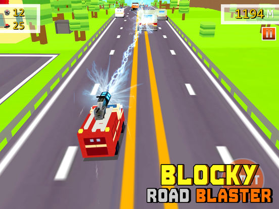 Blocky Road Blaster - 3D ( Fun Race & Shoot Game ) на iPad