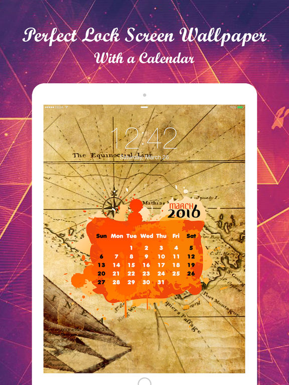 Calendar Wallpaper Maker : App shopper amazing calendar wallpaper themes lock