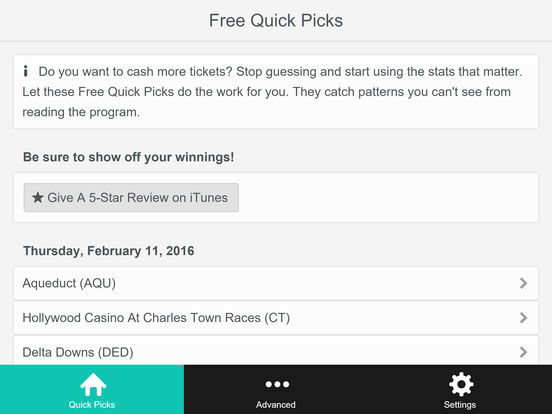 Horseplayer Toolkit (HPT) - Do you want to cash more tickets?  Stop guessing and start using the stats that matter.  Horseplayer Toolkit's Free Quick Picks do the work for you! screenshot