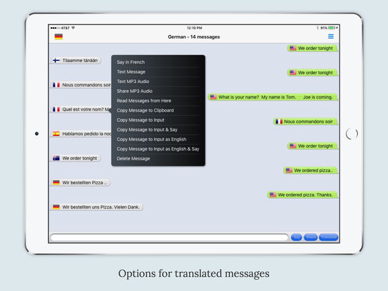 mText2Speech - Language Translator with Voice Screenshots