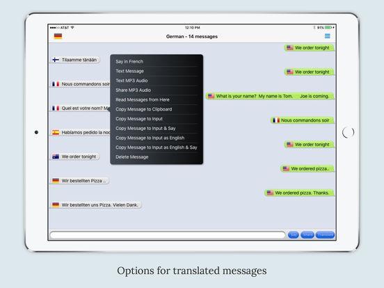 mText2Speech - Text to Speech with Auto Translate Screenshots